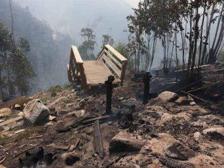 Câmara adjudica por 147 mil euros a reconstrução de passadiço ardido