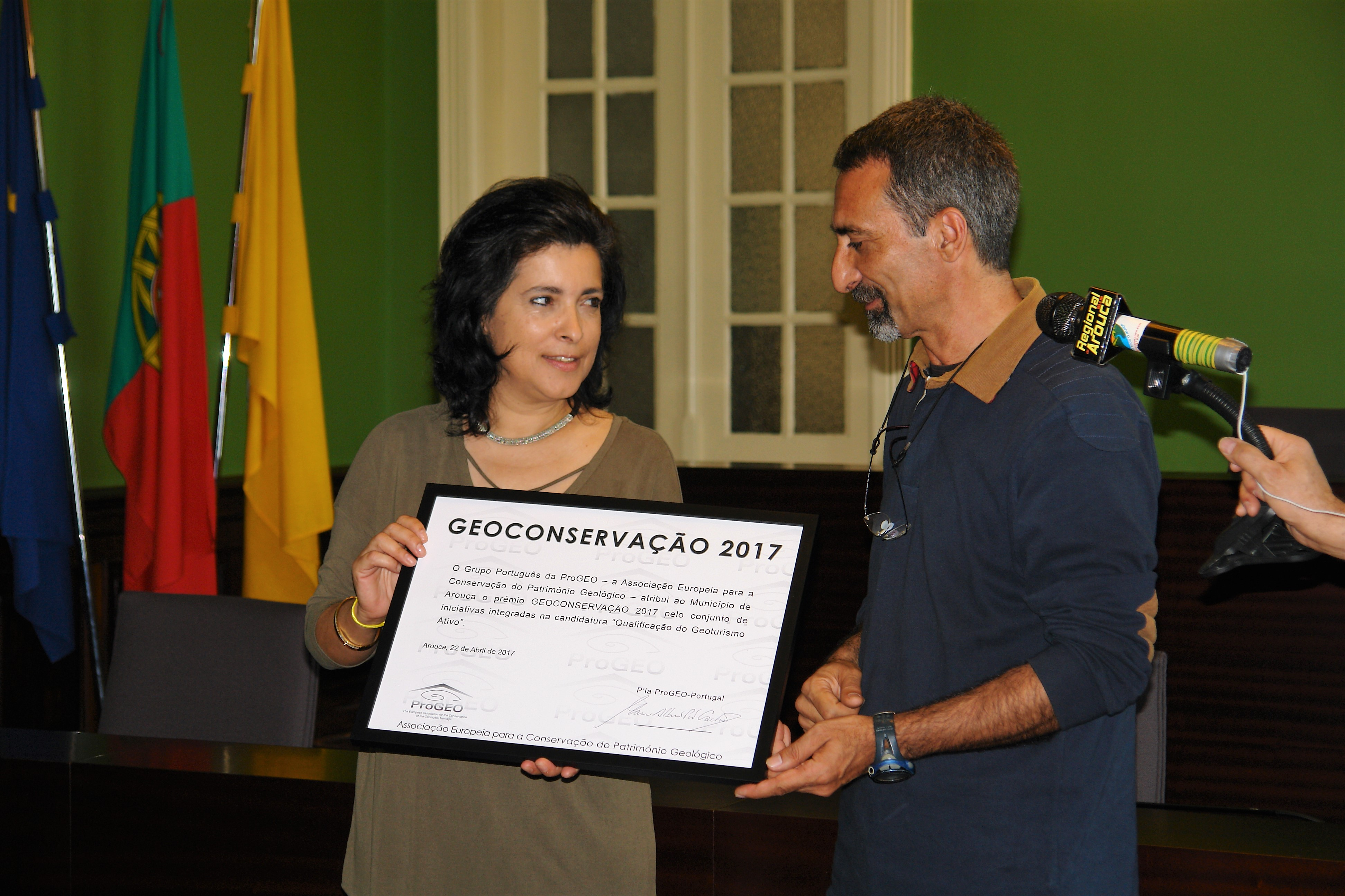 Arouca recebeu Prémio Geoconservação 2017