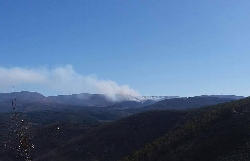 Incêndio em Alvarenga controlado