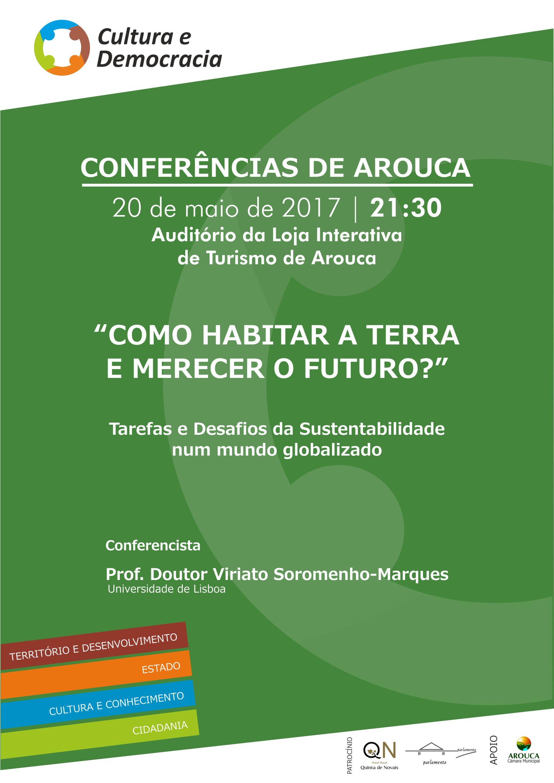 "Círculo Cultura e Democracia convida Viriato Soromenho-Marques para ""Conferência de Arouca"""