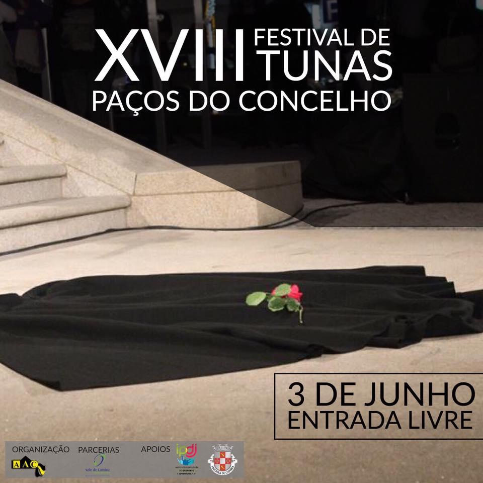 Paços do Concelho recebem XVIII Festival de Tunas Masculino