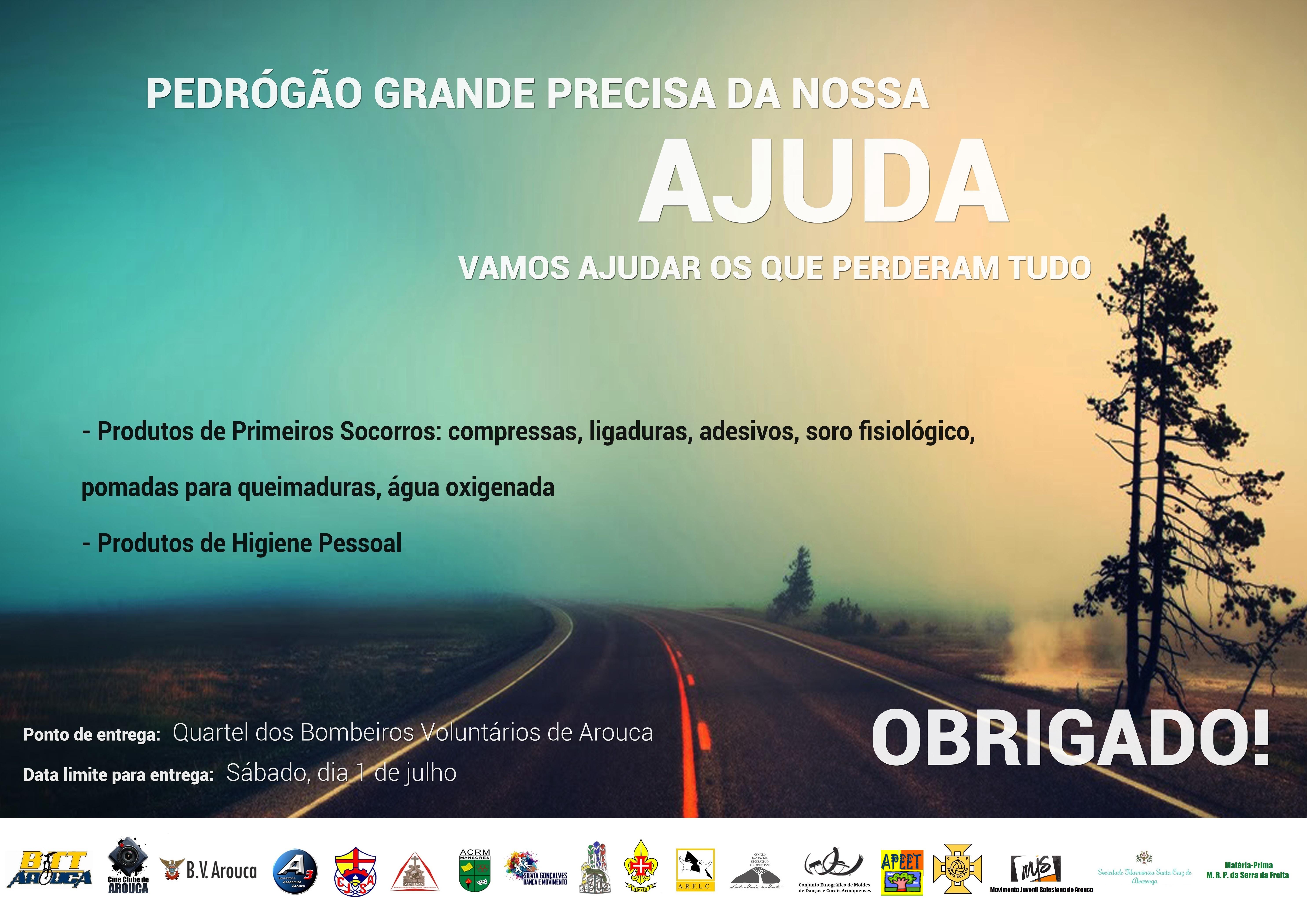 Arouca unida por Pedrogão Grande