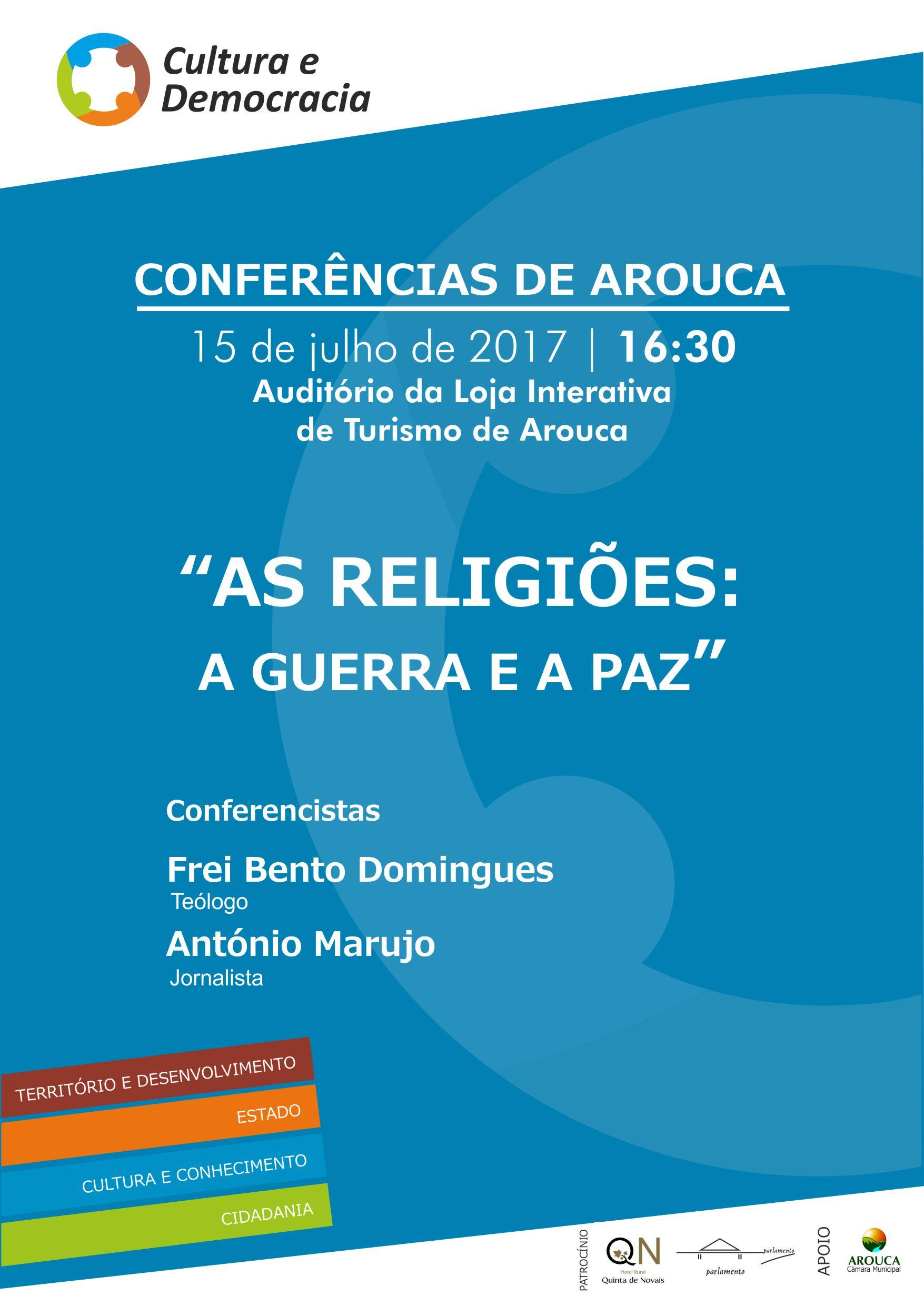 "Frei Bento Domingues e António Marujo na próxima ""Conferência de Arouca"""