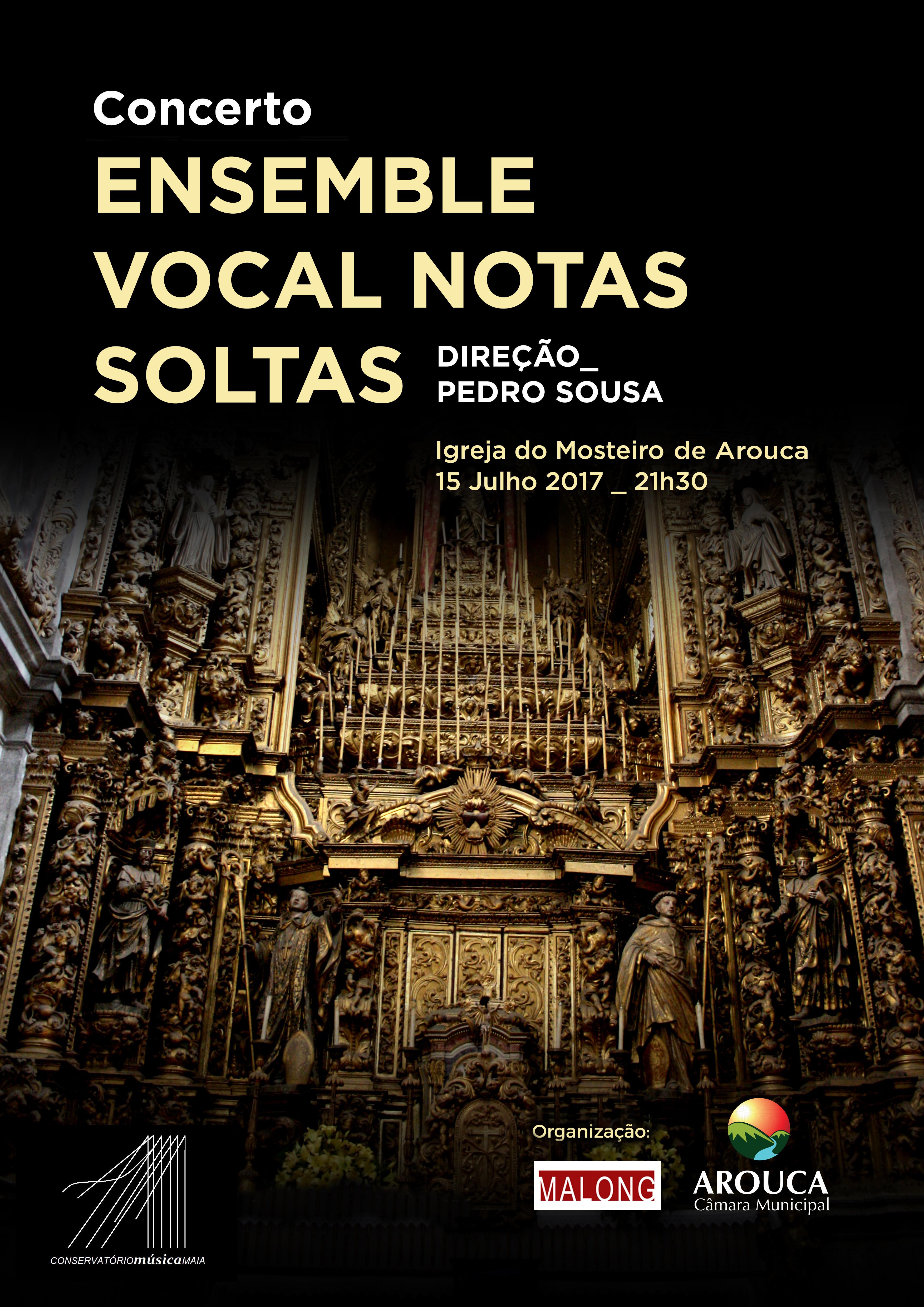 Igreja do Mosteiro acolhe concerto do Ensemble Vocal Notas Soltas