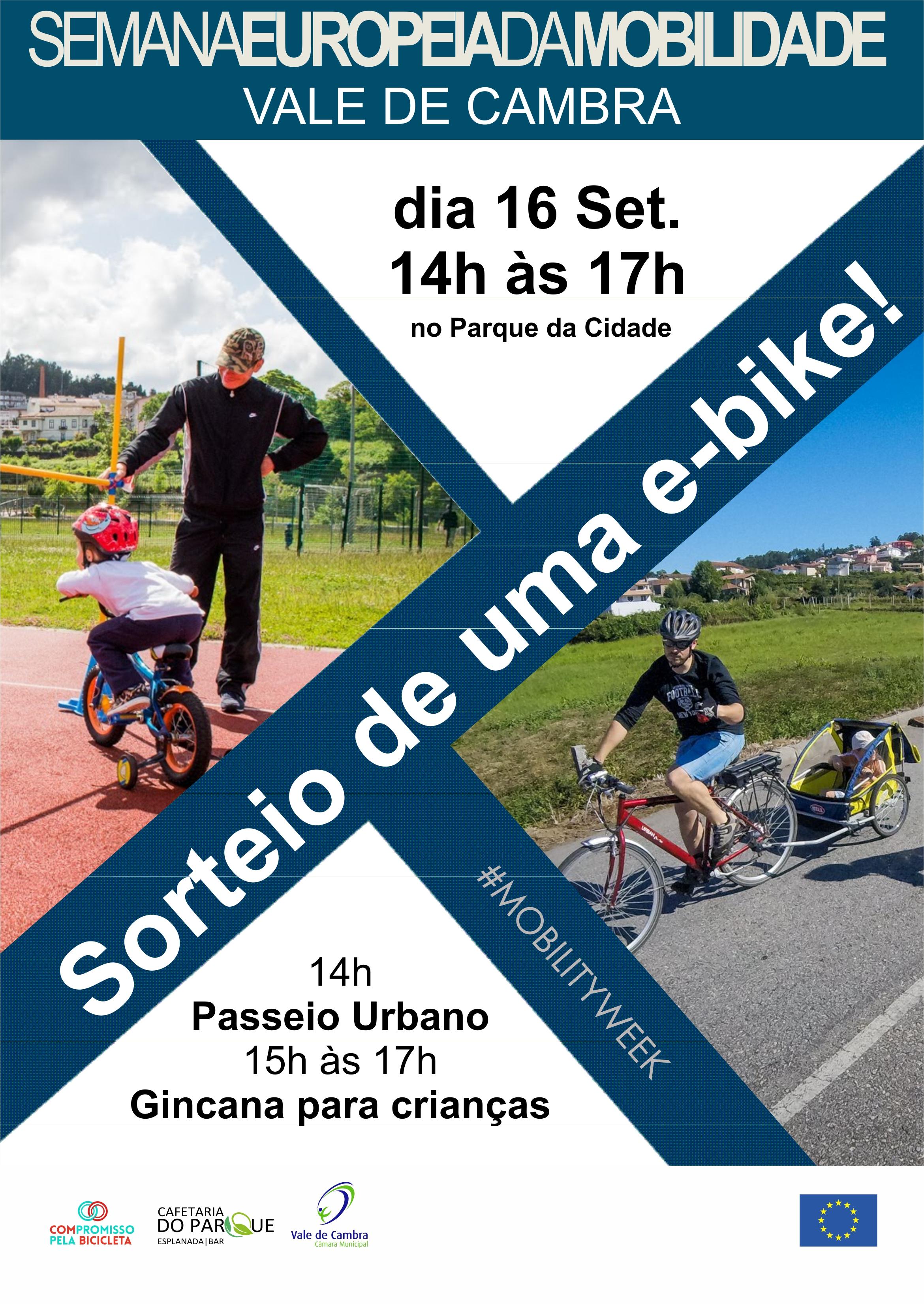 Vale de Cambra assinala Semana da Mobilidade com várias atividades e sorteio de uma e-bike