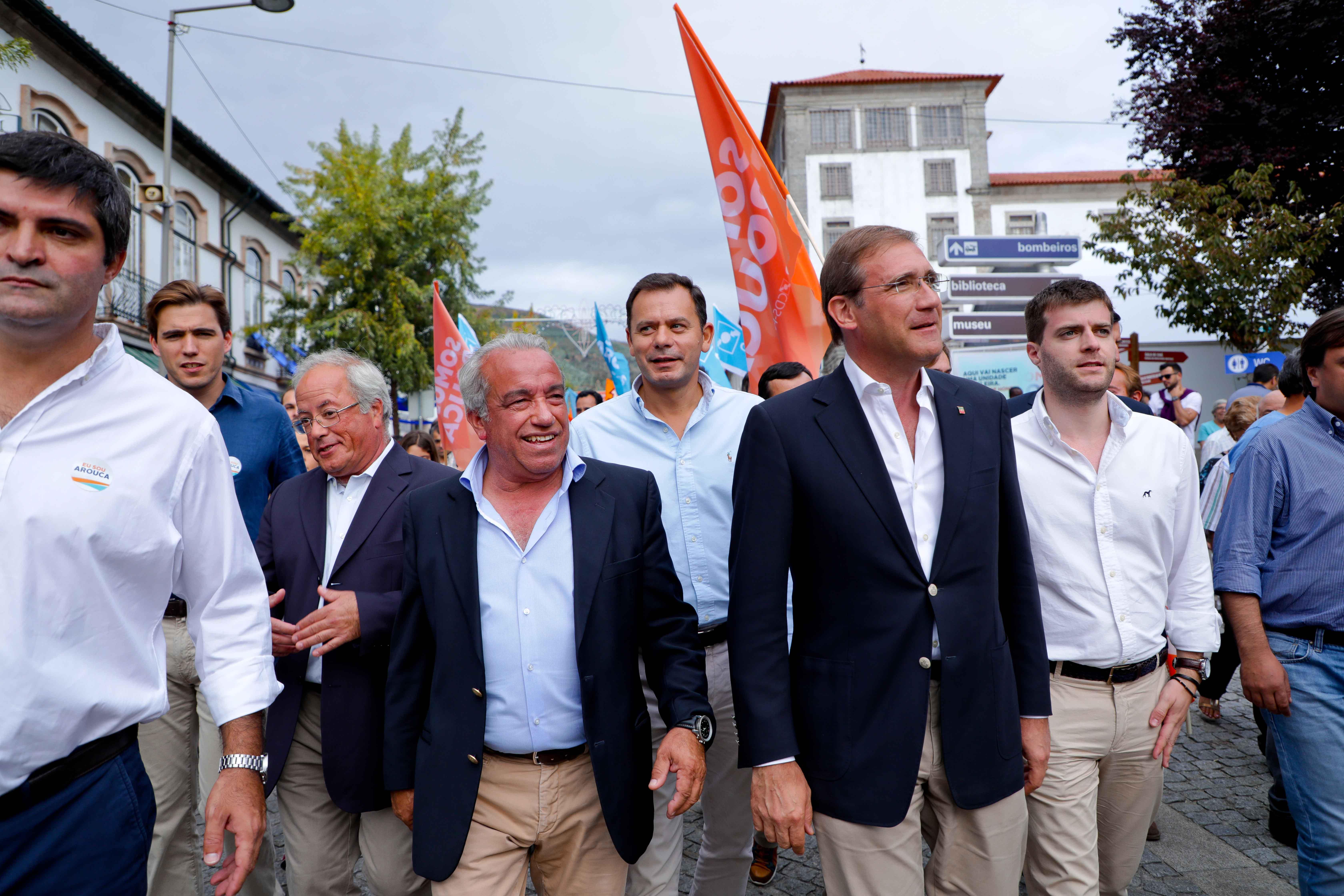 Passos Coelho em apoio a Fernando Mendes na Feira das Colheitas