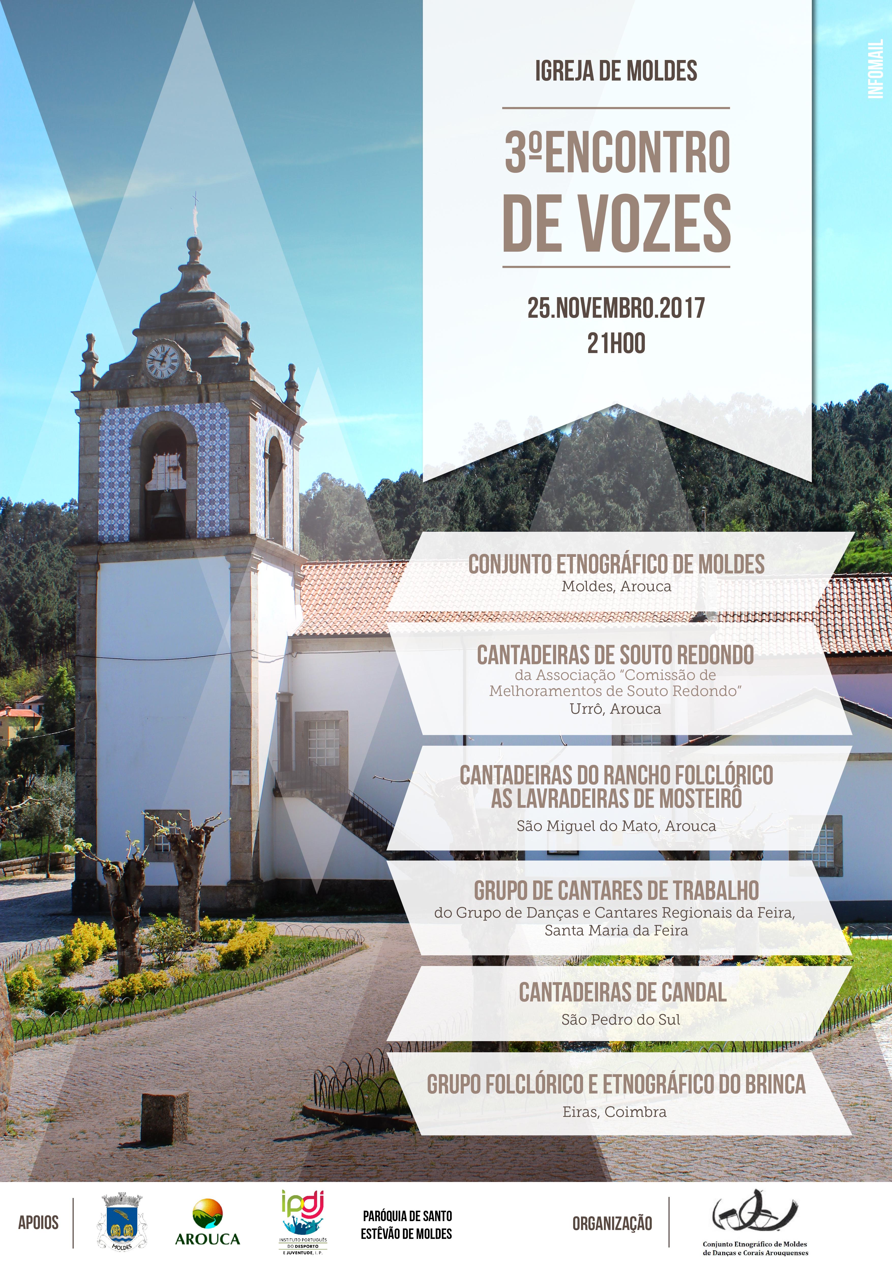 Conjunto Etnográfico de Moldes organiza 3º Encontro de Vozes