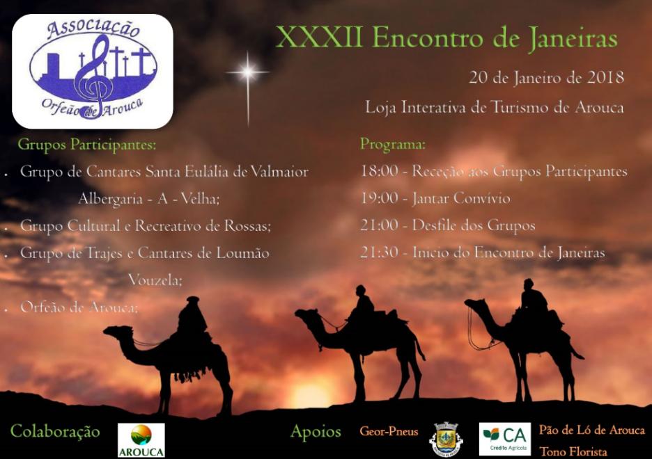 Orfeão de Arouca organiza XXXII Encontro de Janeiras