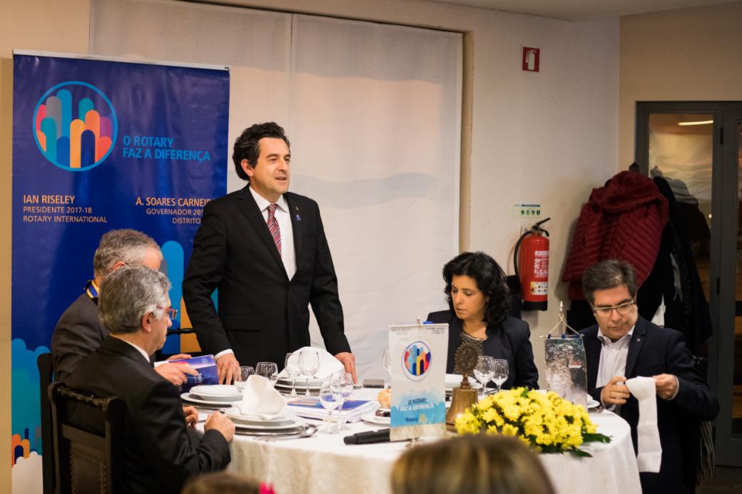 Rotary Club de Arouca: Admissão de dois novos companheiros na visita do Governador