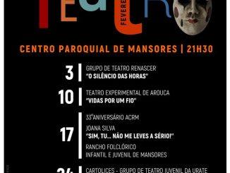 Mansores celebra o teatro no mês de fevereiro
