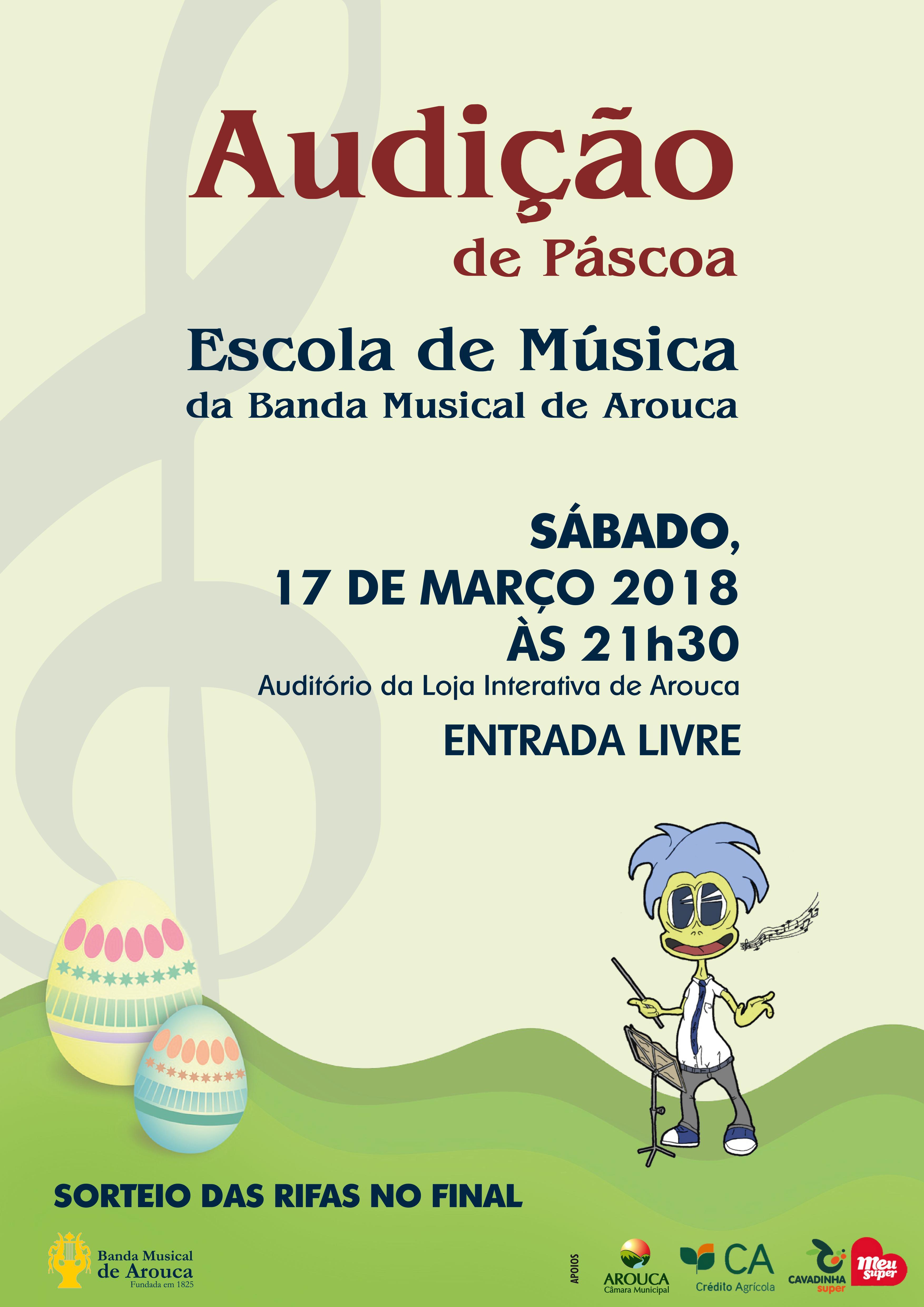 Escola de Música da Banda Musical de Arouca promove audição de Páscoa