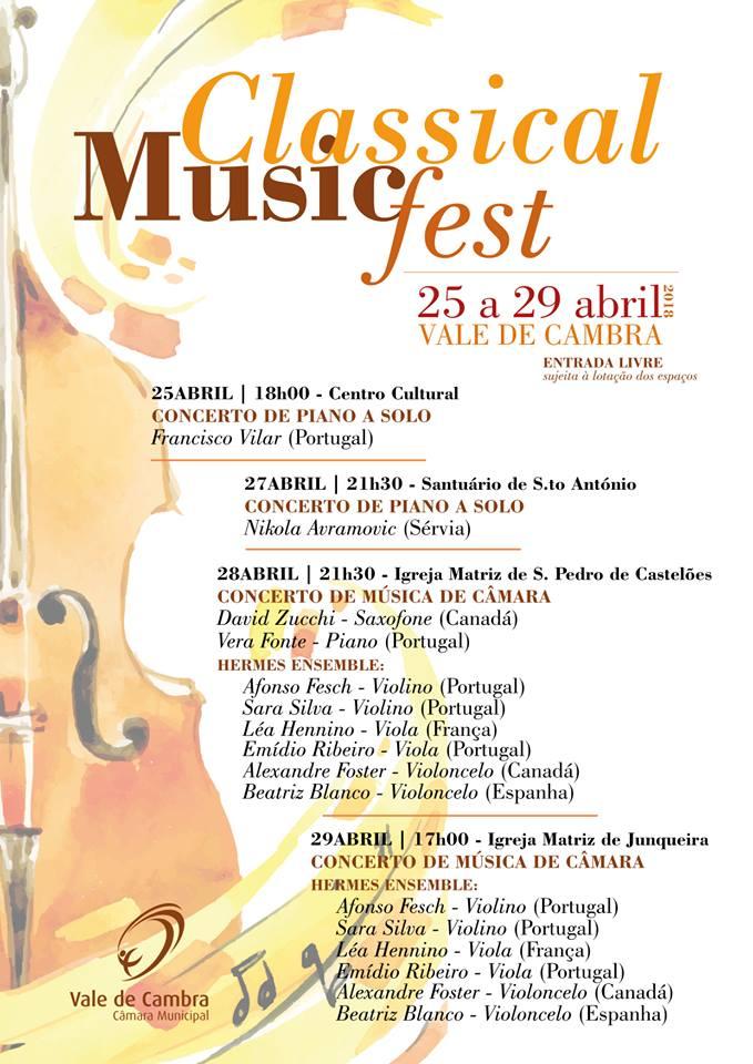 Vale de Cambra promove Classical Music Fest