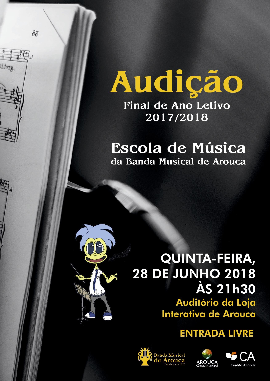 Escola de Música da Banda Musical de Arouca promove Audição Final