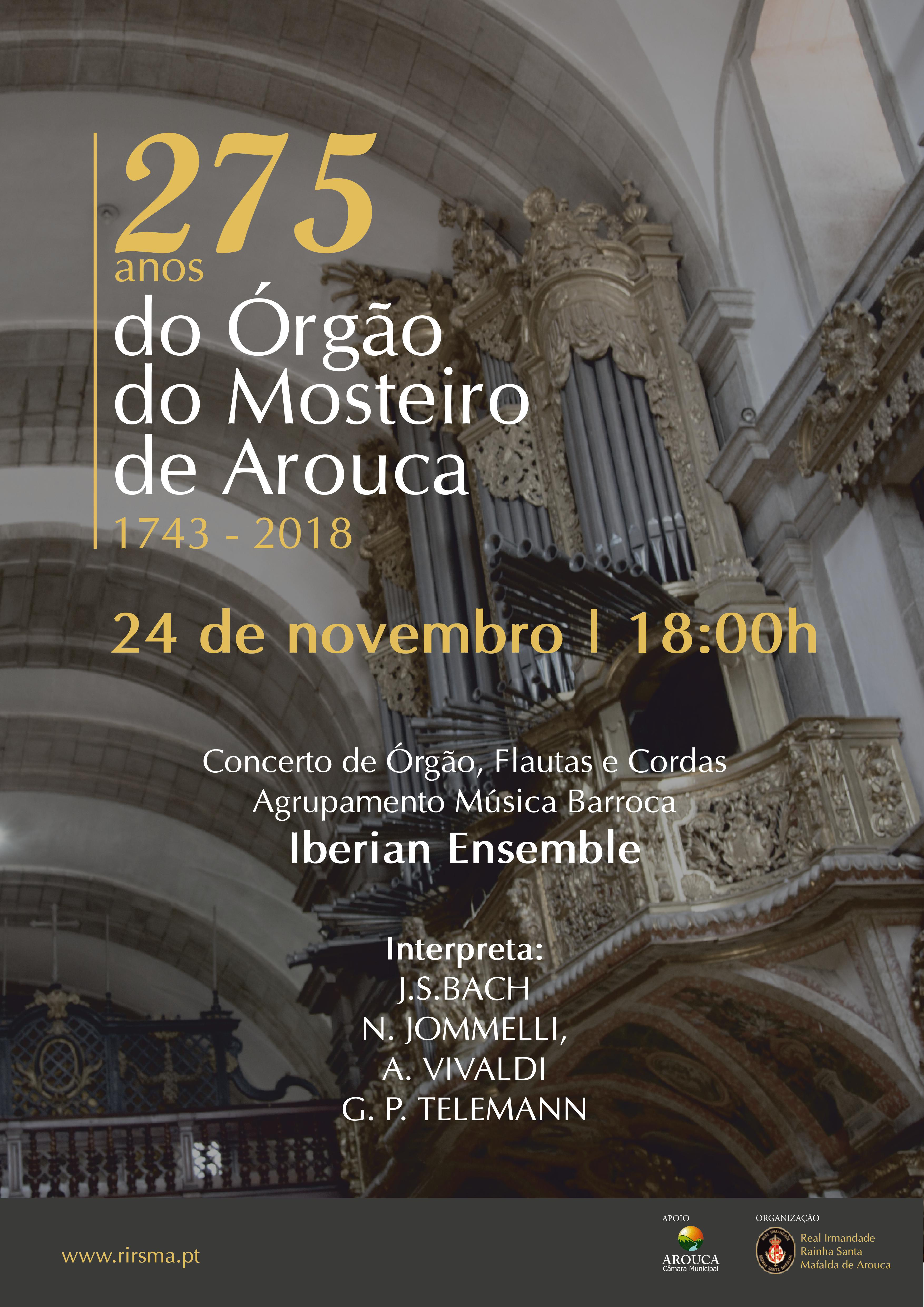 275 anos do órgão do Mosteiro de Arouca assinalados com novo concerto
