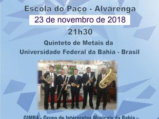 Quinteto de Metais da Universidade Federal da Baía atua em Alvarenga