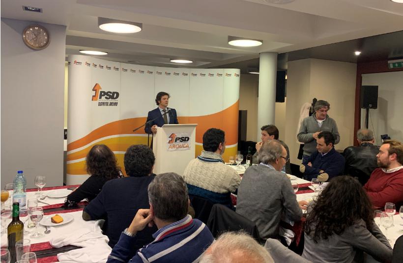 PSD Arouca em jantar convívio: Balanço de um ano político, críticas à Câmara e o apoio a Rui Rio