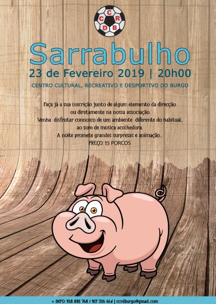 Centro Cultural Recreativo e Desportivo do Burgo promove Sarrabulho