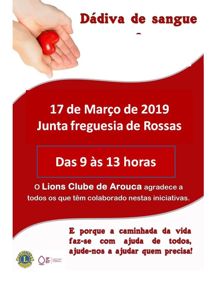 Lions Clube de Arouca promove Dádiva de Sangue