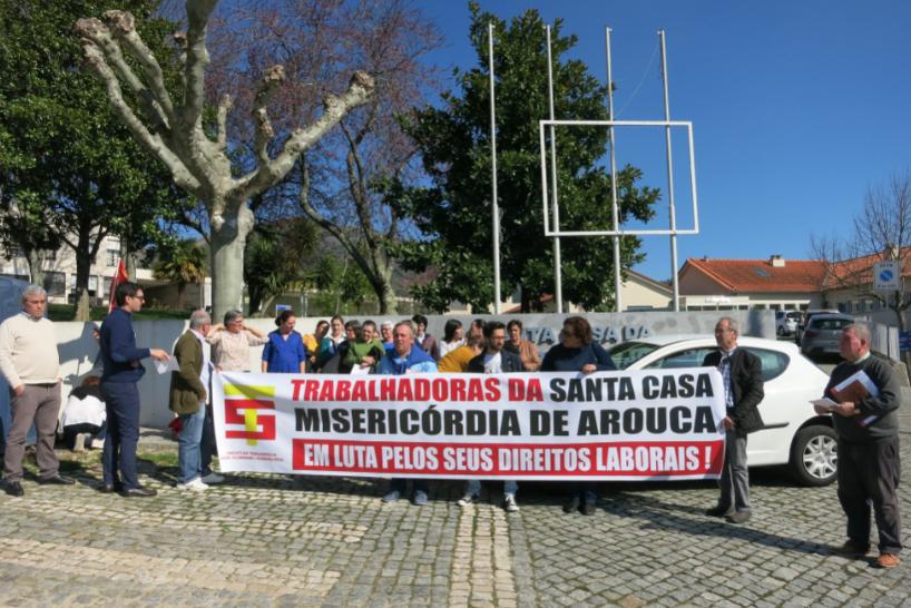 Trabalhadoras da Santa Casa da Misericórdia de Arouca reclamam cumprimento dos seus direitos