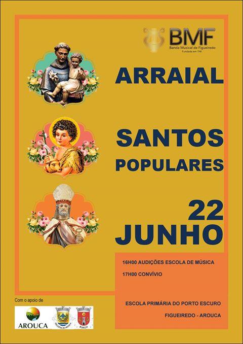 Banda Musical de Figueiredo promove arraial dos santos populares