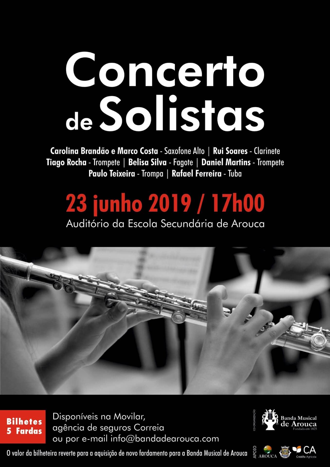 Banda Musical de Arouca promove Concerto de Solistas