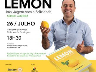 """Sérgio Almeida lança livro """"LEMON – Uma viagem para a felicidade"""""""