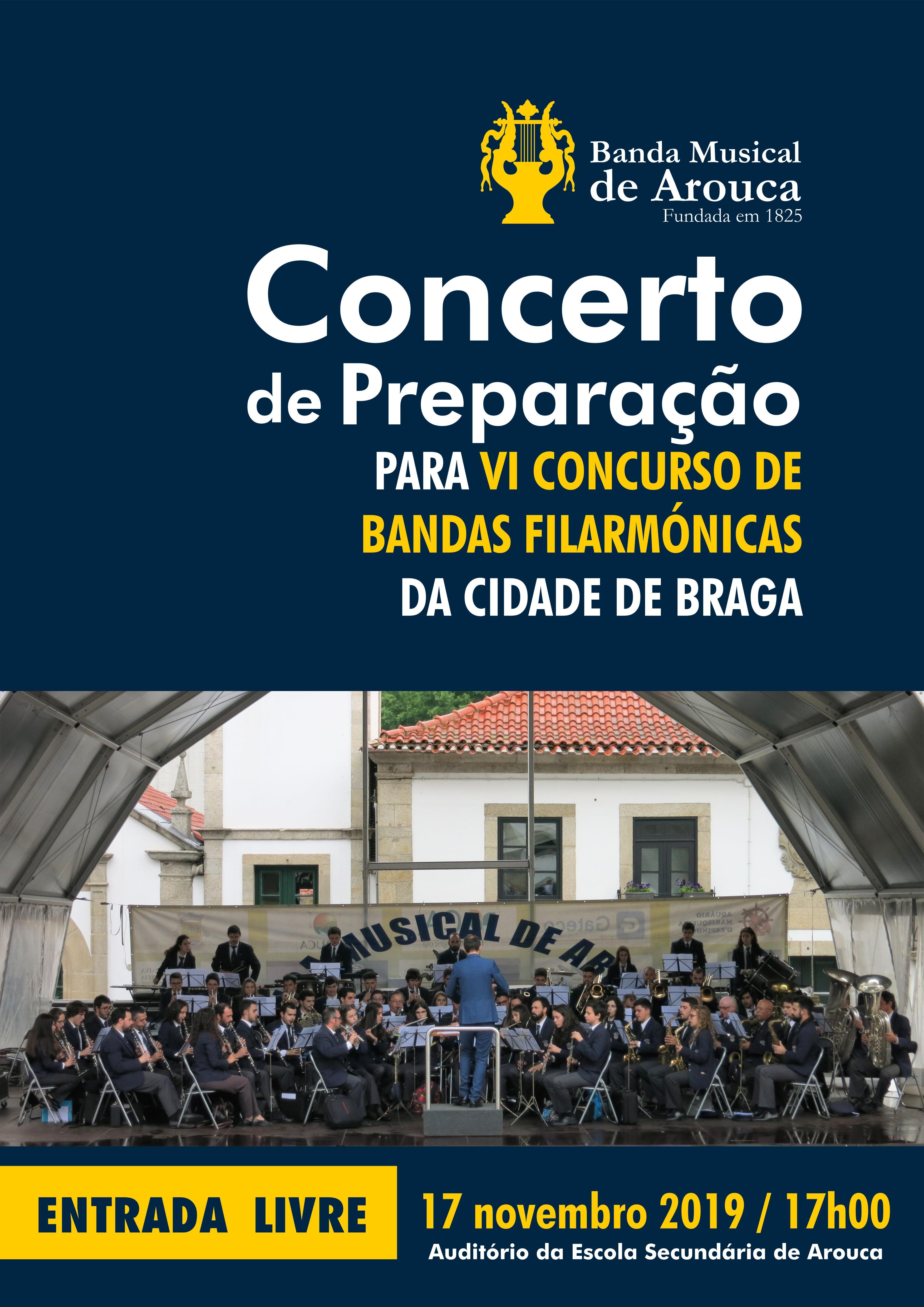 Banda promove Concerto de preparação para Concurso de Bandas Filarmónicas de Braga