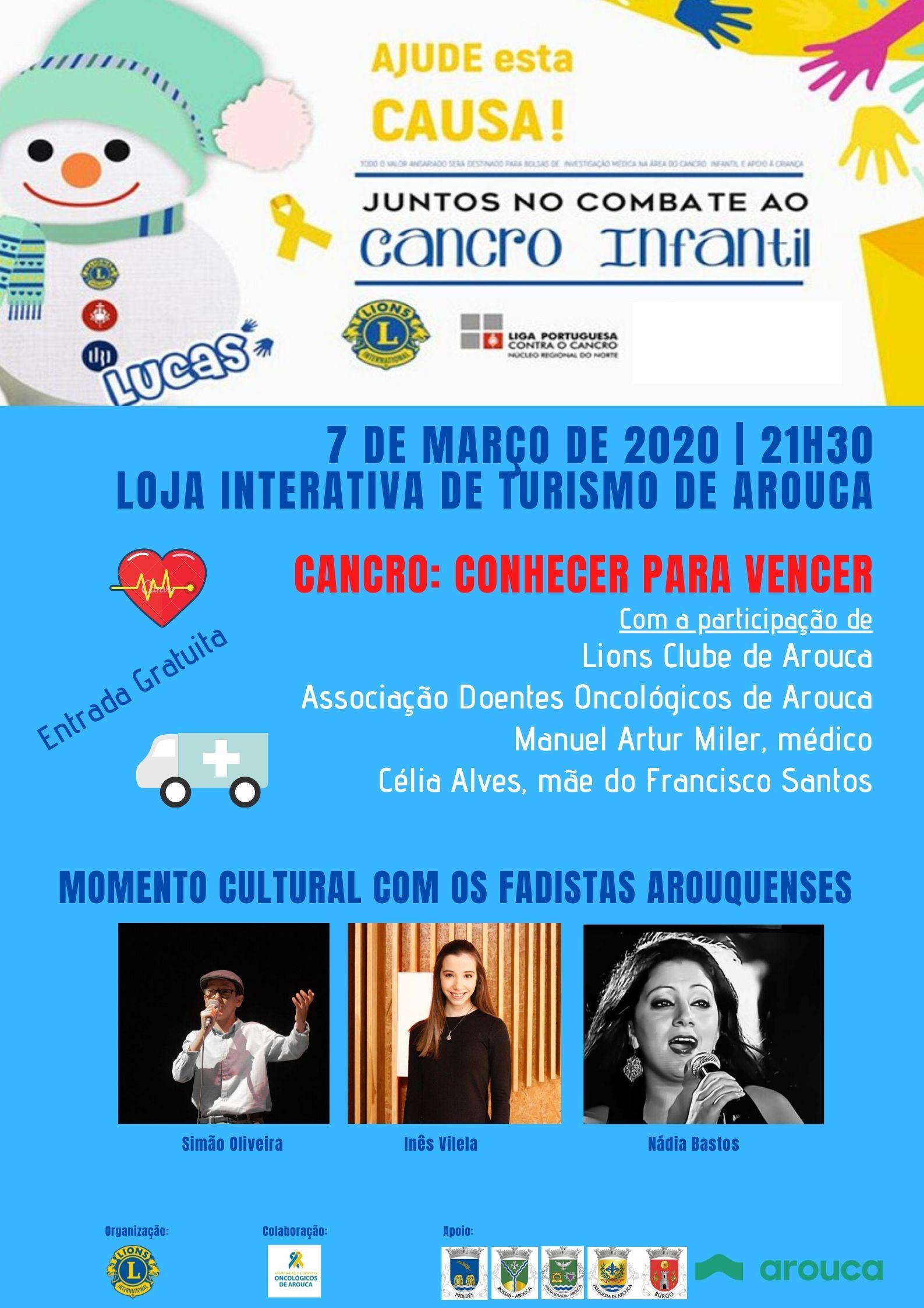 """Lions Clube de Arouca e ADOA """"Juntos no Combate ao Cancro Infantil"""""""