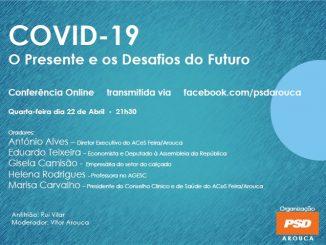 PSD Arouca promove conferência online sobre o COVID-19