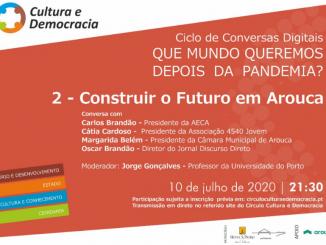 Círculo Cultura e Democracia promove sessão digital sobre 'Construir o Futuro em Arouca'. Diretor do Discurso Directo é um dos participantes.