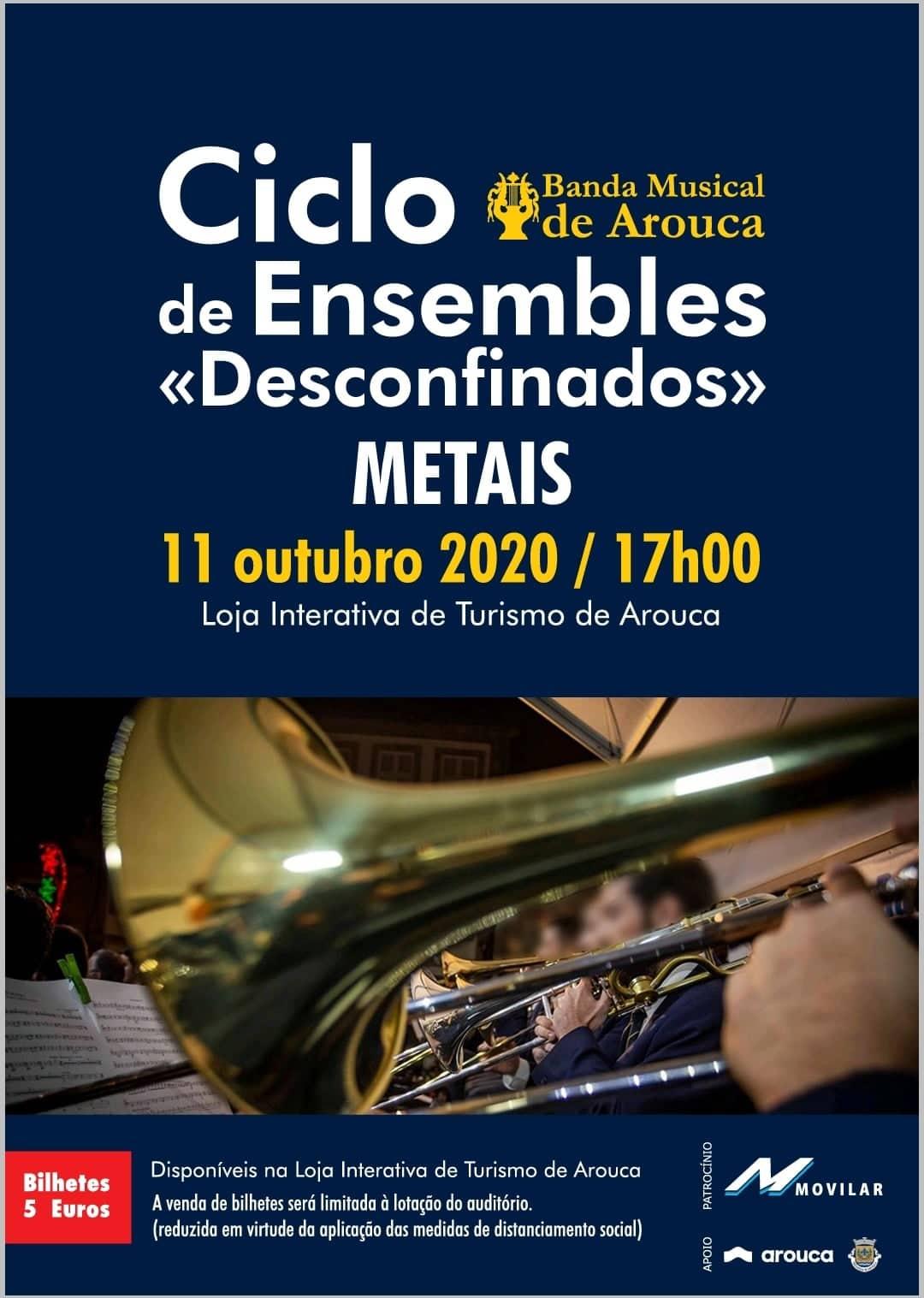 Banda Musical de Arouca promove Ciclo de Ensembles 'Desconfinados'
