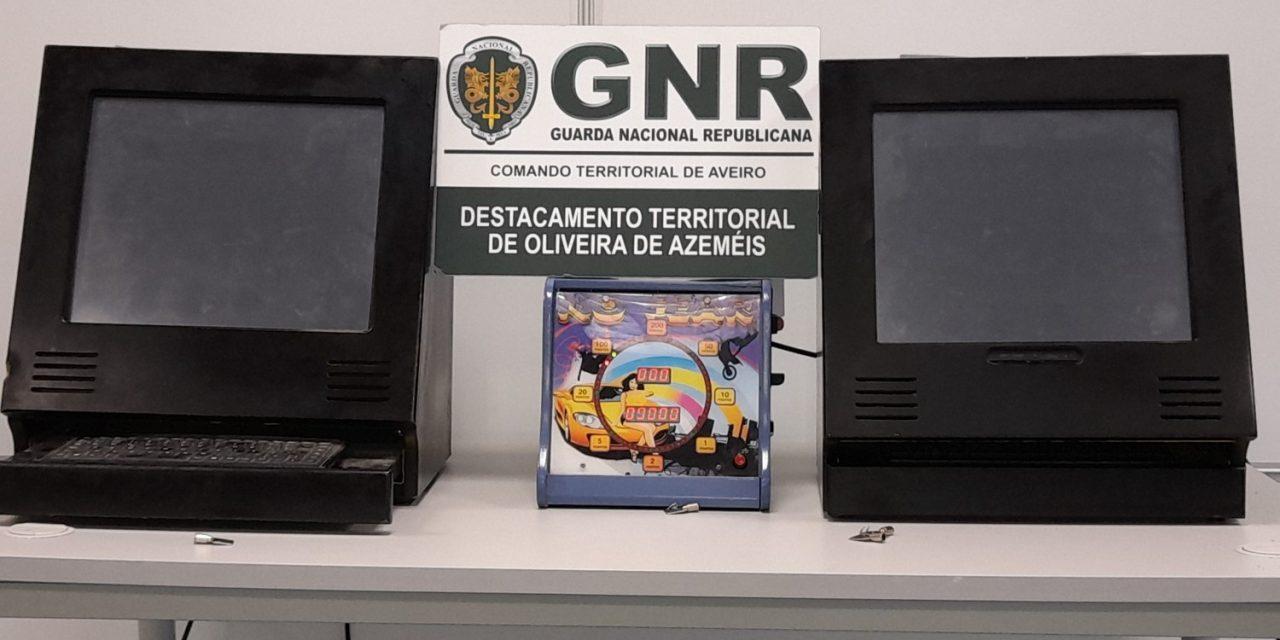 Apreensão de máquinas de jogo ilegal