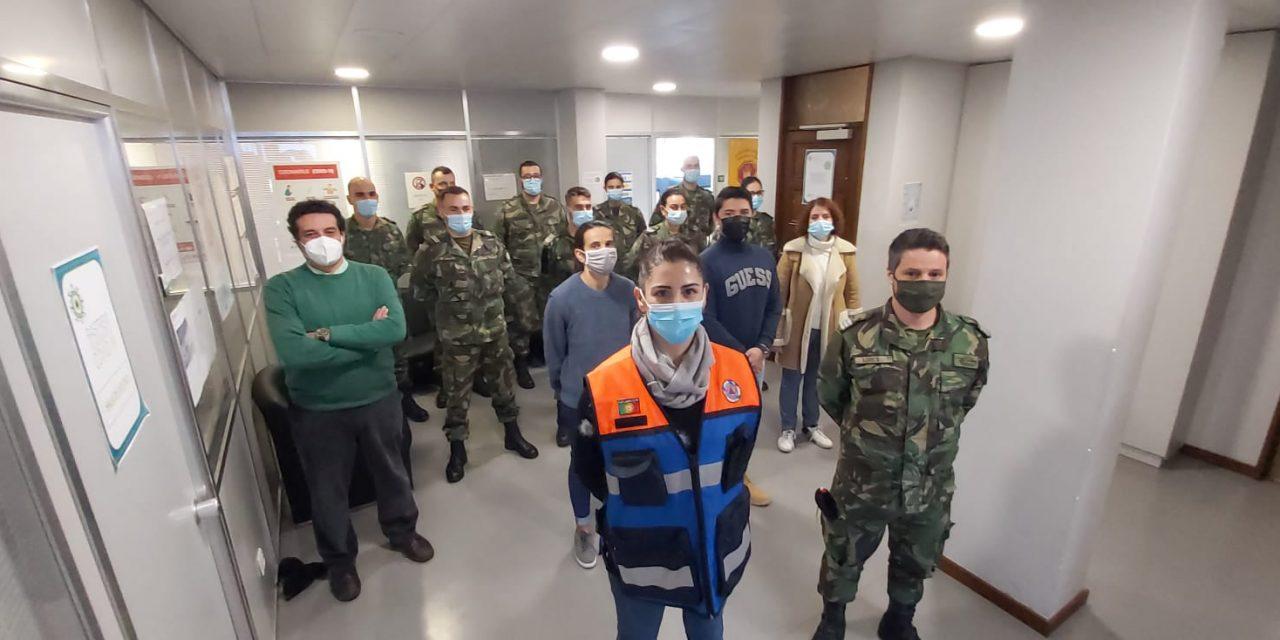 Militares ajudam na luta contra a Covid 19 em Arouca