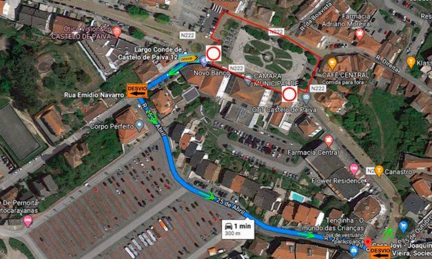 Castelo de Paiva: Obras na Praça da Independência e no Largo do Conde alteram circulação de trânsito