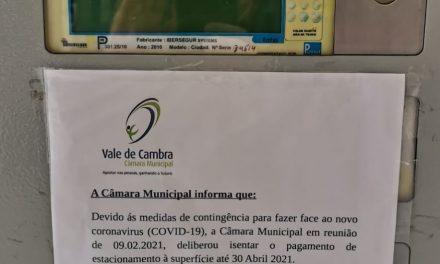 Vale de Cambra: Câmara isenta pagamento de estacionamento à superfície