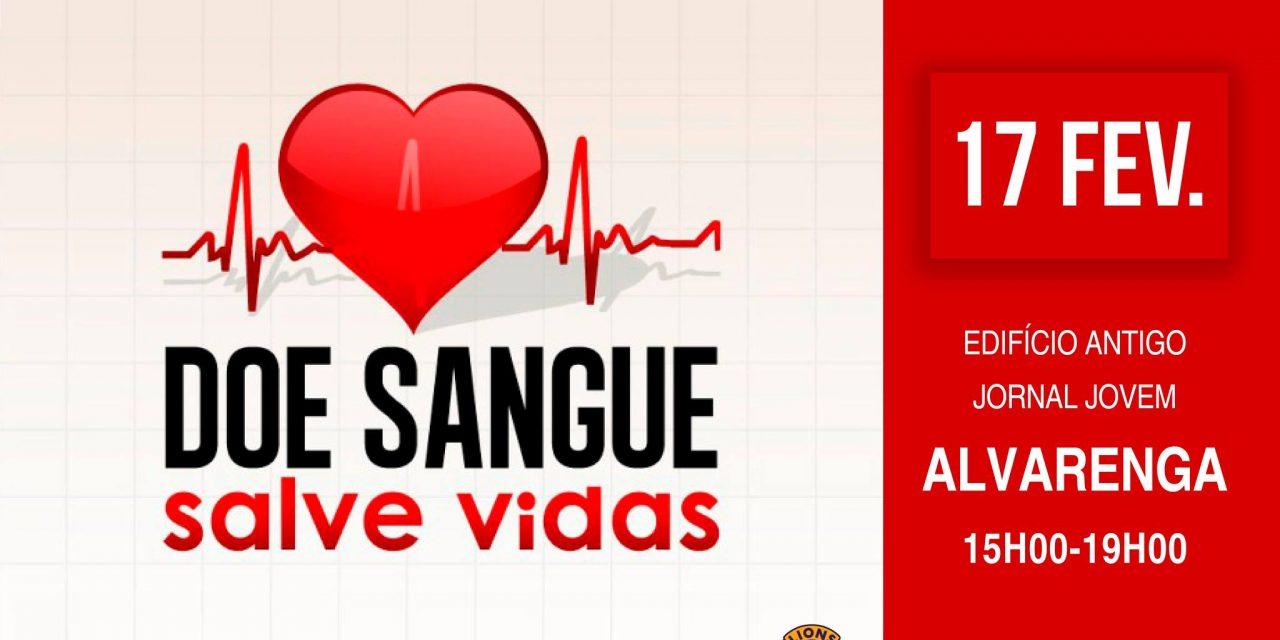 Dádiva de sangue 17 de fevereiro, 15h00-19h00, edifício antigo Jornal Jovem, em Trancoso, Alvarenga Doe sangue. Salve vidas