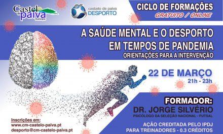 """Castelo de Paiva discute """"Saúde mental e o Desporto em Tempos de Pandemia"""""""