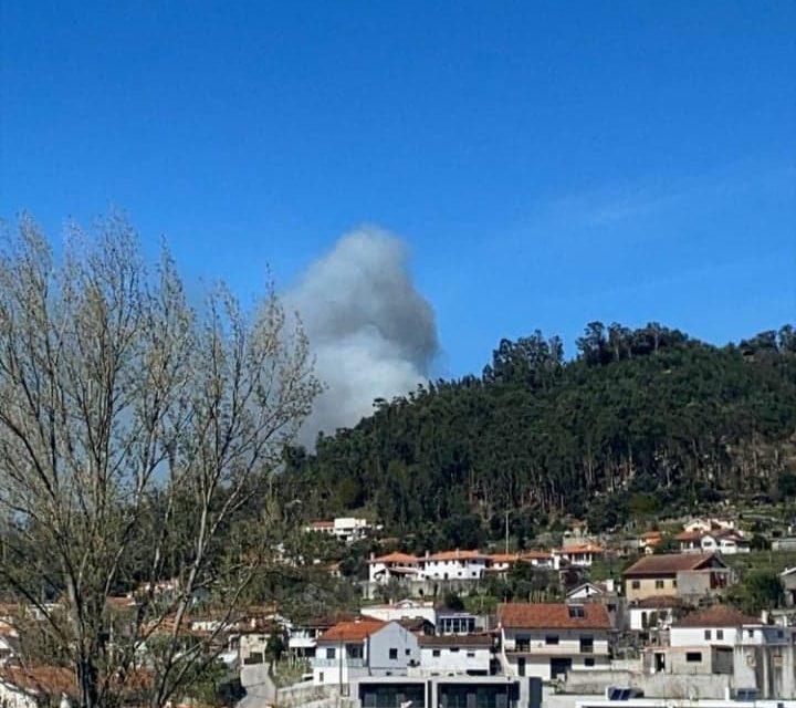 Incêndio na freguesia dE SANTA EULÁLIA   São João de Valinhas