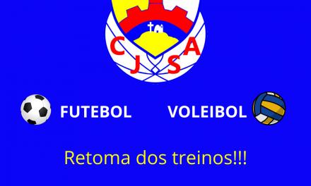 Centro Juvenil Retoma Treinos de Futebol e Voleibol