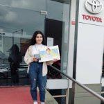 """Jovem de rossas recebeu ontem o prémio """"Toyota Carro de Sonho"""""""