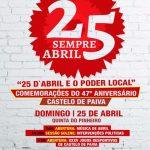 47º Aniversário do 25 de Abril em Castelo de Paiva