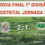 ADC Lobão vence em casa UD Mansores (2-1)