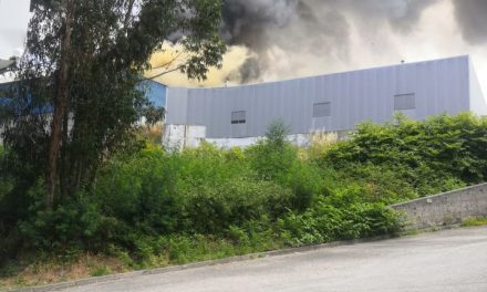 Um ferido ligeiro e destruição de um pavilhão no Incêndio que deflagrou na Fábrica Camarc