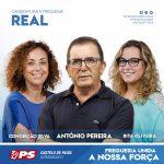 António Pereira é o candidato à freguesia de Real pelo Partido Socialista de Castelo de Paiva
