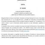 Plano de Gestão Florestal Parque Santa Luzia Abertura do Período de Discussão Pública