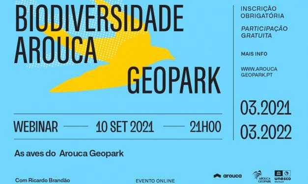 «As aves do Arouca Geopark» é o sétimo webinar do evento «Biodiversidade do Arouca Geopark 12 meses, 12 temas»