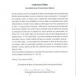 Convocatória da Assembleia Geral Eleitoral da Real Irmandade da Rainha Santa Mafalda de Arouca