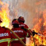 Bombeiros de Castelo de Paiva combatem incêndio florestal em Fornos